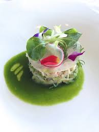fine dining food gallery. french fine dining food picture | zuwai crab. crustacean essence, turnip mile-feuille gallery