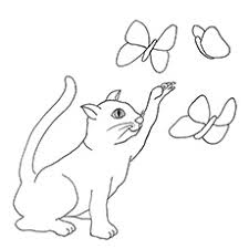 Cat Coloring Pages Printable S Color Free Jokingart Page