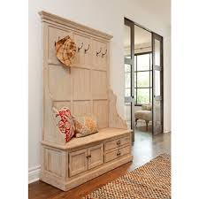 Image of: Unfinished Entryway Bench White
