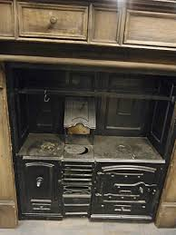 0061040 victorian cast iron kitchen range with wooden surround h 177cm x 190 x 76 cad