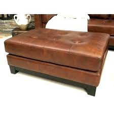 square brown leather ottoman coffee table dark tufted large extraordinary furniture delightful l