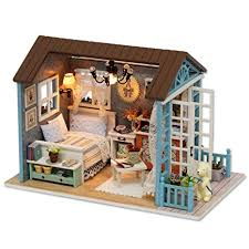 Miniature dollhouse furniture Homemade Spilay Diy Miniature Dollhouse Wooden Furniture Kithandmade Mini Retro Style Home Model With Dust Youtube Amazoncom Spilay Diy Miniature Dollhouse Wooden Furniture Kit