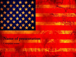 American Flag Powerpoint Template Powerpoint Template Free