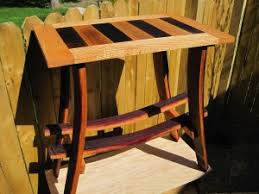 furniture made from barrels. Table And Wine Rack Furniture Made From Finger Lakes Barrels