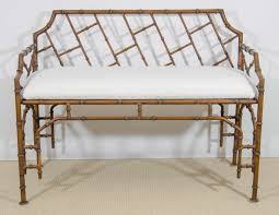 midcentury iron faux bamboo bench at stdibs