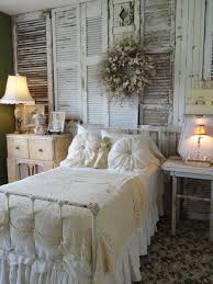 chic bedroom ideas. Perfect Bedroom 4 CREATE WOODEN WINDOW SHUTTERS HEADBOARD On Chic Bedroom Ideas O