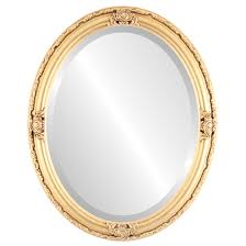 oval mirror frame. Jefferson Beveled Oval Mirror Frame In Gold Leaf