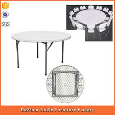 Fold In Half Round Table Best Price Fashion Design Plastic Round Table Factory 2017