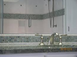 bathroom glass floor tile. bathroom 3 - marble tub surround with glass tile border edged in jade ceramic bar liners, backsplash and floor