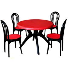 plastic round table chairs