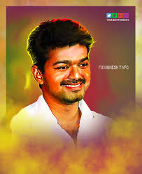 808x988 digital painting tamil actor vijay hd by vigneshtdesign the actor painting