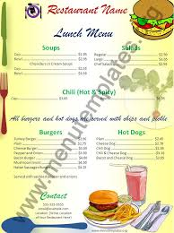 Breakfast Menu Template Gorgeous Free Menu Templates Lunch Menu Template Menu Templates Menu