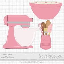 kitchen mixer clipart. Delighful Kitchen Kitchen Baking Clip Art Set Mixer Utensils And Bowl By Lovelytocu 350 Throughout Mixer Clipart