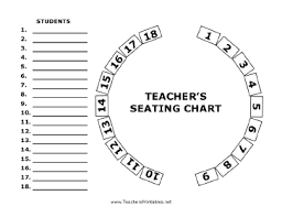 Free Printable Charts For Classroom Circular Seating Chart