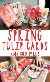 Spring Photo Cards 5 Diy Spring Tulip Cards Your Kids Can Make Shelterness