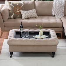 belham living sandrine tufted storage ottoman with tray table com