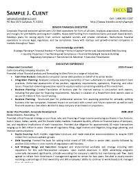 Senior Financial Analyst Resume Sample Financial Executive Resume Financial Analyst Resume Sample Finance