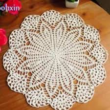 luxury dining table mats crochet cup placemat round 40cm glass drink coasters tea home weding
