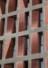 Perforated Brick Wall Design Angled Screens Of Perforated Brick Provide Ventilation And