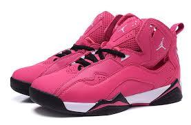 jordan shoes for girls pink and black. jordan-7-girls-jordan-true-flight-vivid-pink- jordan shoes for girls pink and black d