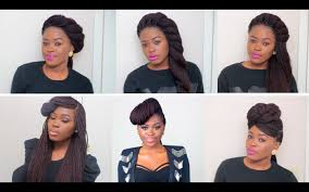 Quick Hairstyles For Braids 6 Unique Quick Easy Styles For Box Braids Twists Youtube