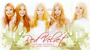 Red Velvet - Girl Power K-Pop fond d ...