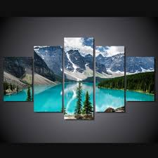 5 piece canvas prints.  Prints 5 Piece Canvas Art Snow Mountain And Water Canvas Prints For Living Room Wall  Art Picture Gift Home Decoration HomeC 873in Painting U0026 Calligraphy From  And E