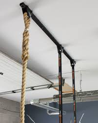 mount our gymnastic rings climbing rope or even a heavy bag right to your ceiling with this easy to install adjule ceiling hanger system from