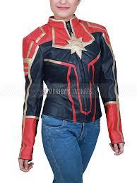 captain marvel danvers leather jacket