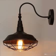 Wall Scone Light 2019 Vintage Wall Sconce Lights With Metal Shade Retro Rustic Loft Antique Wall Lamp Edison Industrial Decorative Wall Light Fixtures Lighting From