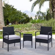 garden chair set sale. ebs 3 piece rattan wicker patio garden lawn furniture outdoor / indoor complete set with coffee table + chairs for chair sale