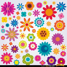 colored pictures of flowers. Delighful Pictures Background With Colored Flowers Free Vector To Colored Pictures Of Flowers B