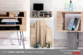 diy modern furniture. Modern Furniture Diy. Homemade Diy Media Console (for Use As A Sofa Table E