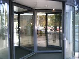 rotating glass door