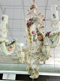 capodimonte porcelain chandelier sconce art authentic made in italy full size