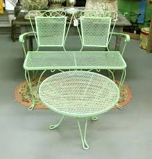 painting wrought iron furniture. Painting Wrought Iron Patio Furniture Colored Best Metal Ideas On Refinished Car Wax Near Refinishing