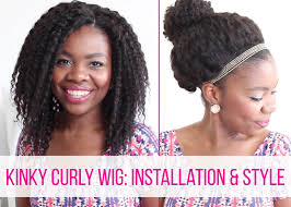 Natural Hair Style Wigs kinky curly wig installation & style on 4c hair african natural 7979 by stevesalt.us