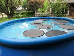 floating pool cover lilly pad solar heater