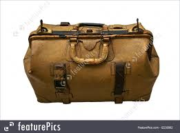 Old Leather Suitcase Isolated Royalty-Free Stock Picture
