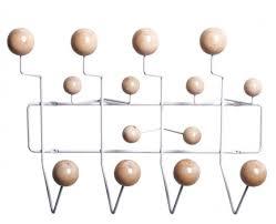 Eames Coat Rack Magnificent Eames Style HangItAll Nature Color Coat Rack Wood Balls