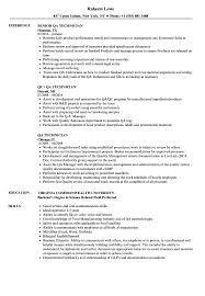 Qa Resume Examples Best of QA Technician Resume Samples Velvet Jobs
