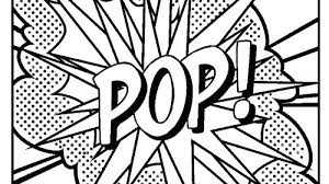 Pop Art Coloring Pages Fun In February Pinterest Free School And Lessons