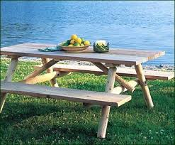 Outdoor Picnic Tables Near Me Wood Picnic Table With Detached