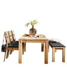 savannah dining table with 3 dining chairs and a bench with seat pads wild oak dining sets dining room