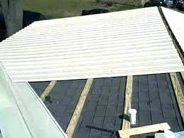 diy metal roof installing a metal roof on mobile home putting pitched inside plan install corrugated