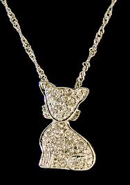 diamond 0 09ctw cat pendant in 14k white gold 0