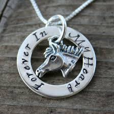 personalized eternity affirmation circle horse pendant