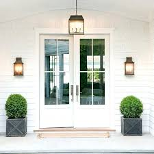 double front doors modern white outdoor wall with glass half amusing