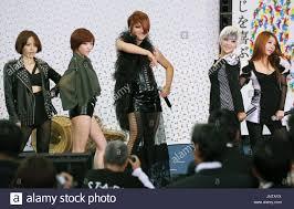 tokyo an anese celebrity makeup artist ikko c and members of south korean s group brown e s perform at nikkan koryu omatsuri