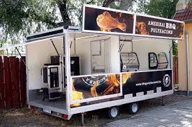 bbq street food trailer for in hungary